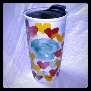 Starbucks Heart Ceramic Travel Mug- 10 oz. Tall